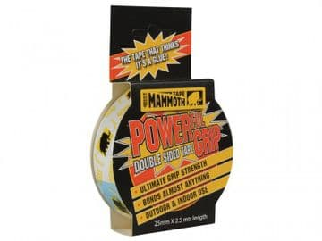 Powerful Grip Double-Sided Tape 25mm x 2.5m
